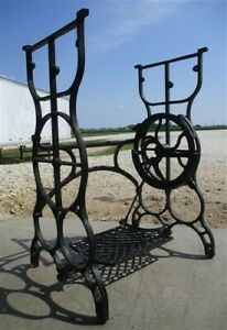 Treadle Sewing Machine Cast Iron Base Industrial Age Table Singer Steampunk Mi