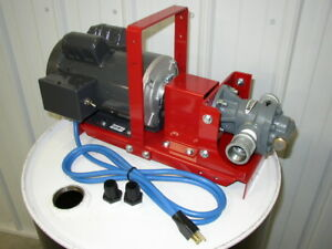 New Redline 110v Electric Bulk waste Oil Pump 3 4 Hp 1 Gear Head heaters burner