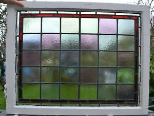 Frame 777 X 611mm Stained Glass Leaded Light Window Panel Above Door Size R891a