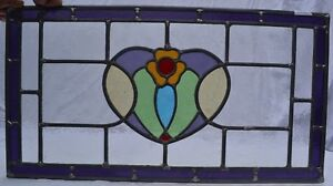 715 X 380mm Traditional Leaded Light Stained Glass Window Panel Newly Made R704c