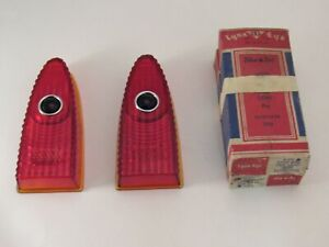 1953 Plymouth Accessory Blue Dot Tail Light Lenses Nos Lynx Eye