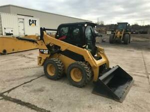 2016 Caterpillar 242d Cab Heat Air Skid Steer Wheel Loader Tire Machine Cat