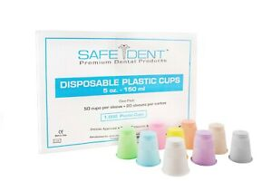 Safedent Dental Clinical Plastic Disposable 5oz Cups Box Of 1000 Gray
