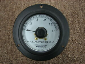 Vintage Western Electric 0 1 5 Milliamp Meter Tested And Working Perfectly