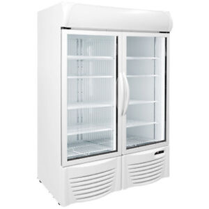 47 Upright 2 Glass Door Display Freezer Commercial Excellence Gdf 43 New 9741
