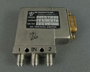 Db Products 2sf4e12 Rf Coaxial Switch 115vdc D sub