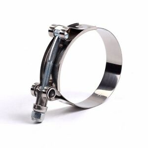 1pc 121mm 129mm Stainless Steel T Bolt Clamp For Id 4 5 114mm Silicone Hose