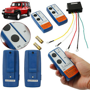 Wireless Winch Remote Control Kit 100ft For Car Jeep Atv Warn Ramsey Superwinch
