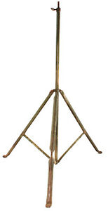 Antique Vintage Military Tripod Steel Folding Field Style Camping Collapsible