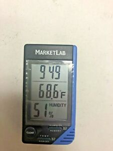 Market Lab Ml4040 Traceable Thermometer Clock Humidity Monitor
