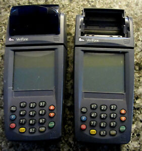 Lot Of 2 Verifone Nurit 8020 Card Reader Terminals no Pwr Supp for Parts h