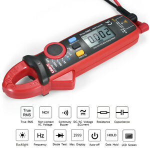 Uni t Ut210e Mini Digital Clamp Multimeter True Rms Voltmeter Diode Tester H4z3