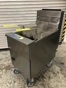 80 Lb Deep Fryer Nat Gas New Baskets Full Size Stainless Pitco Sg18s 9763 Nsf