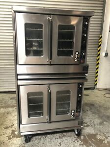 Double Stack Gas Convection Oven Bakery Depth Montague 115a 9769 Commercial