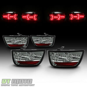 Smoked 2010 2013 Chevy Camaro Lumileds Led Tail Lights Brake Lamps Left right