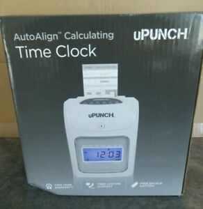 Upunch Hn4000 Electronic Auto Align Calculating Time Clock Keys Power Supply