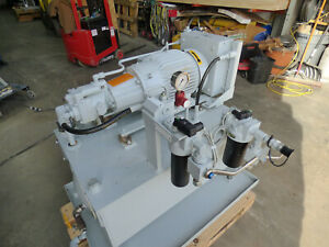 7 5 Hp Parker Hydraulic Power Supply Pvp16 Piston Pump Cooler Filters Nice