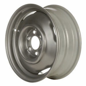 02038 Oem Reconditioned Steel Wheel 15x6 Medium Silver Sparkle Full Face Painted
