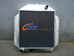 62mm For 1949 1953 Ford Car W 302 5l V8 Engine Aluminum Radiator Manual