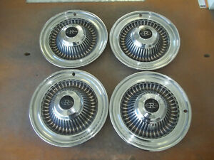 1964 64 Buick Riviera Hubcap Rim Wheel Cover Hub Cap 15 Oem Used A21 Set
