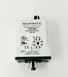 3 Phase Monitor Relay Spdt 480vac 8 Pin pap480