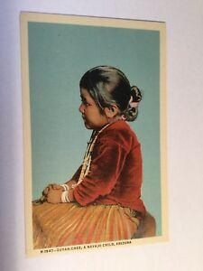 Zuyah Chee A Navajo Child Arizona Native American Indians Fred Harvey Postcard $8.00