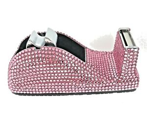 Pink Crystallized Tape Dispenser Bejeweled Swarovski Crystals Lite Rose Sparkle
