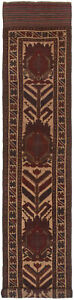 Hand Knotted Carpet 2 3 X 12 6 Traditional Vintage Wool Rug