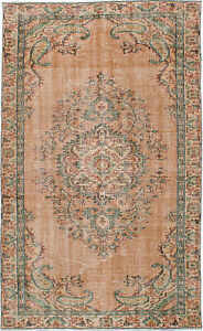Hand Knotted Turkish Carpet 5 0 X 8 4 Melis Vintage Traditional Wool Rug
