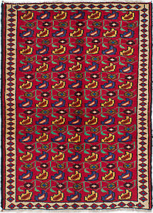 Hand Knotted Persian Carpet 3 5 X 4 6 Persian Vintage Tradition
