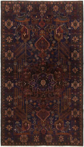 Hand Knotted Carpet 3 9 X 6 6 Traditional Vintage Wool Rug