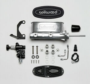 Wilwood Master Cylinder With Proportioning Valve polished includes All Hard Line