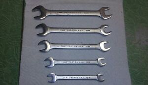 Proto Open End Metric Wrench Set 5 Pieces Made In Usa