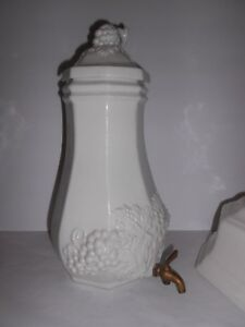 Red Cliff Ironstone Fine China Antique Porcelain W Base And Lid Or Wall Mount