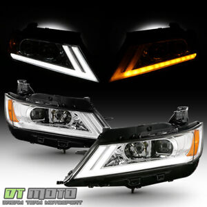 2014 2019 Chevy Impala Led Drl Switchback Chrome Projector Headlights Headlamps