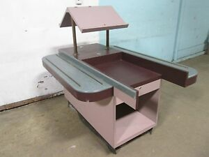 Heavy Duty Commercial 2 Lanes Restaurant Cafeteria Style Check out pos Counter