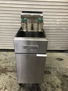 45 Lb Gas Deep Fryer New T stat Stainless Steel American Range Af 35 50 9782