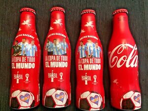 Coca-Cola FULL Aluminum Bottle Set - 2014 World Cup - Argentina Team - MESSI