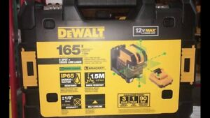 New Dewalt Dw0825lg 12 Volt 5 Spot Cross Line Laser Level 155 Range Kit 2667301