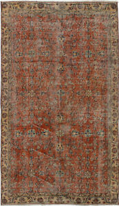 Hand Knotted Turkish 3 7 X 6 3 Melis Vintage Wool Rug Discounted