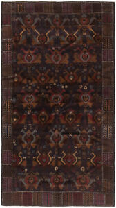 Hand Knotted Carpet 3 9 X 6 9 Traditional Vintage Wool Rug