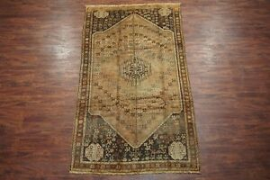 Antique 5x9 Persian Area Rug Hand Knotted Abrash Wool Oriental Carpet 5 X 9 4