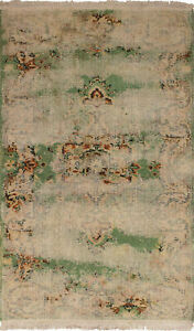 Hand Knotted Turkish Carpet 3 11 X 6 8 Melis Vintage Traditional Wool Rug