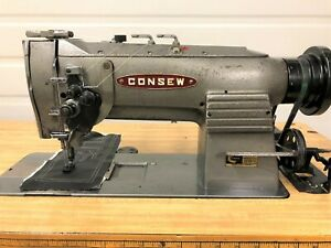 Consew 327 R 1 Split Needle Bar 1 4 Reverse 110 Volt Industrial Sewing Machine