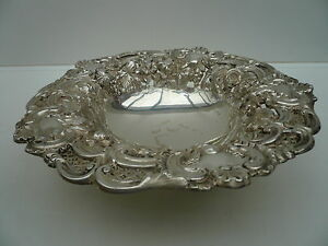 Silver Fruit Bowl Sterling Antique English Solid Hallmarked 1833