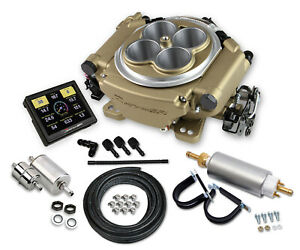 Holley 550 516k Sniper Efi Self Tuning Fuel Injection Pump Kit Classic Gold
