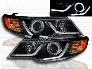 Fit 2010 2013 Forte Forte Coupe Ccfl Halo Projector Headlights Led Strip Black