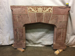 Hand Painted Concrete Fireplace Mantle Surround Country Decor 55 1 4 X 49 1 2