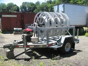 2002 Sauber Model 1561 4 reel Hydraulic Substation Recovery Trailer
