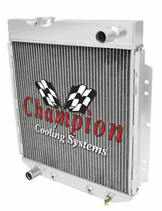 1965 1966 Ford Mustang alliant 2 Row All Aluminum Radiator For L6 Engine